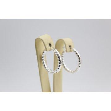 Дамски сребърни обеци халки 1810