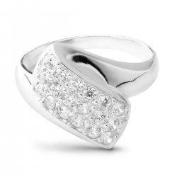 Дамски сребърен годежен пръстен Бонбон 101