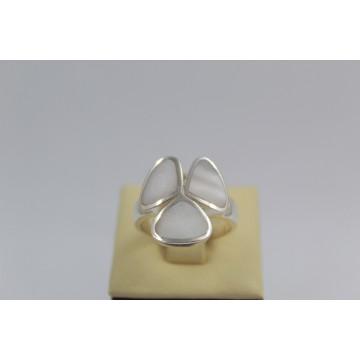 Дамски сребърен пръстен Седеф 1845