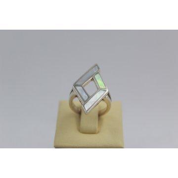 Дамски сребърен пръстен Седеф 1858