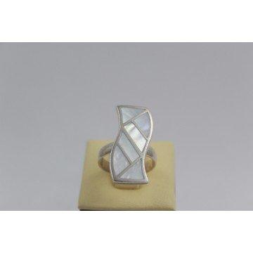 Дамски сребърен пръстен Седеф 1865