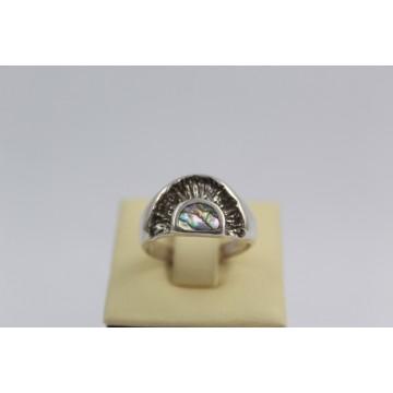 Дамски сребърен пръстен с мексикански седеф 1875