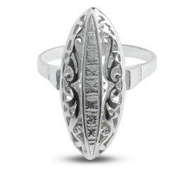 Дамски сребърен пръстен Бадем - Голям 1896