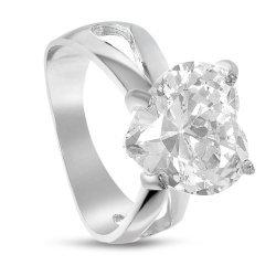 Дамски сребърен годежен пръстен Любов 2016