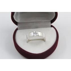 Дамски сребърен годежен пръстен Мини 2020
