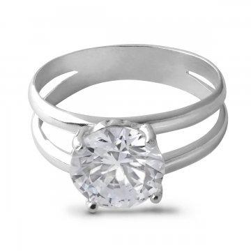 Дамски сребърен годежен пръстен Криста 2028
