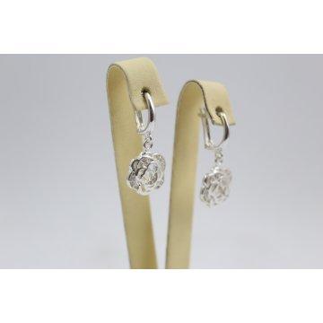 Дамски сребърни обеци Розичка 4434