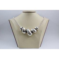 Уникално дамско сребърно колие кралска плетка 2055