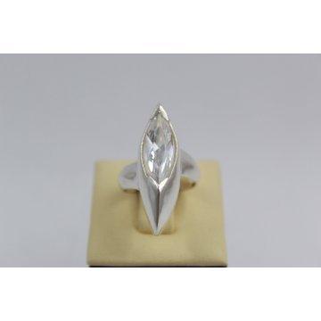 Дамски сребърен пръстен с бял циркон - Роял 2112
