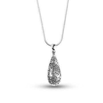 Дамско сребърно колие Калинихта тъмно сребро 4266