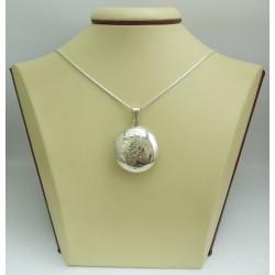 Сребърен отварящ се медальон за снимки 3073