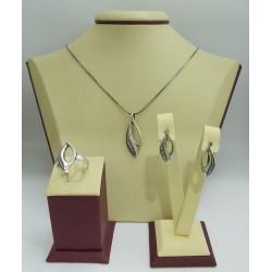 Дамски сребърен комплект Калинихта 4