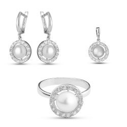 Дамски сребърен комплект Перличка 2206