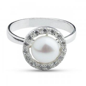 Дамски сребърен пръстен Перличка 3837