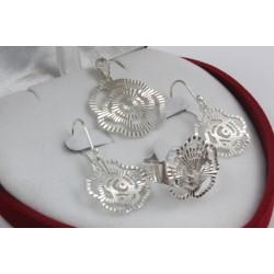 Дамски сребърен комплект Розалин 2224