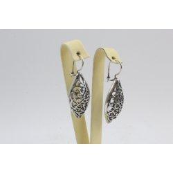 Дамски сребърни висящи обеци Катерини тъмно сребро 2972