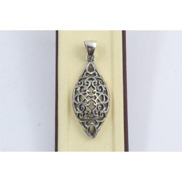 Сребърен медальон Катерини тъмно сребро 2890