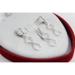 Дамски сребърен комплект Безкрайност 2231