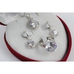 Дамски сребърен комплект Криста 2239