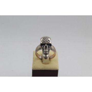 Сребърен пръстен Череп тъмно сребро 2248