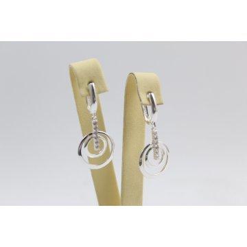Дамски сребърни обеци Камелия 2252