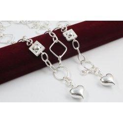 Дамски сребърен комплект - Мирела Амор 3 колие и гривна 2254