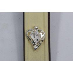 Дамски сребърен медальон Богородица Сърце 2260