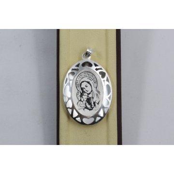 Дамски сребърен медальон Богородица 2262