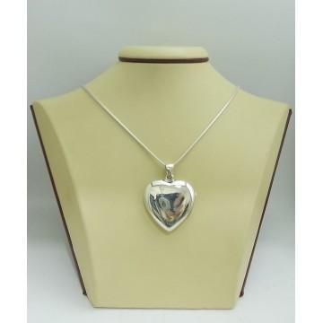 Дамски сребърен отварящ се медальон Сърце 2263
