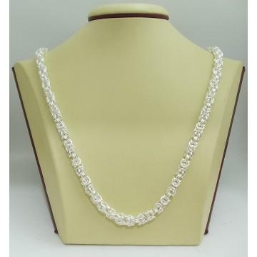 Дамска сребърна верижка кралска плетка 2265