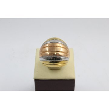 Дамски стоманен пръстен трицветна стомана 2303