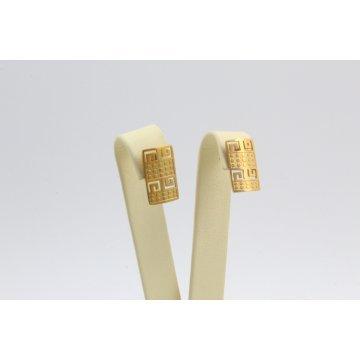 Дамски стоманени обеци жълта стомана 2308