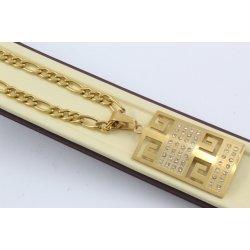 Дамска стоманена верижка с медальон 2309