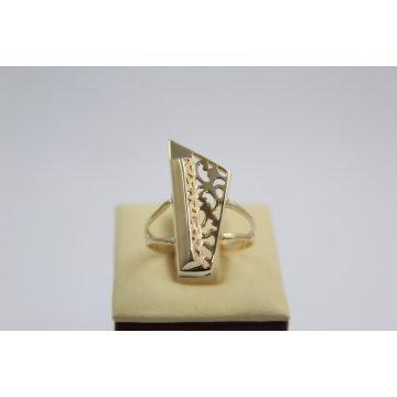 Златен дамски ретро пръстен Пиано жълто злато 2335