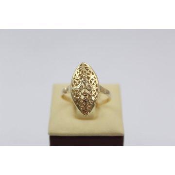 Златен дамски пръстен Бадем жълто злато 2336