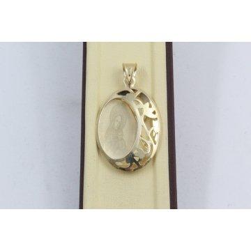 Златна Дамска Богородица жълто злато 2345