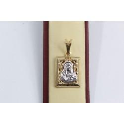 Златна Дамска Богородица бяло жълто злато 2346
