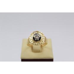 Дамски златен пръстен Медуза жълто и бяло злато 2370