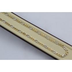 Златна дамска верижка бяло жълто злато 2384