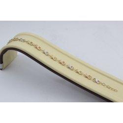 Дамска златна гривна бяло жълто розово злато безкрайност 2394