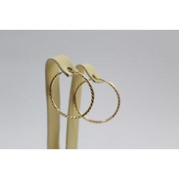 Дамски златни обеци халки жълто злато 2406