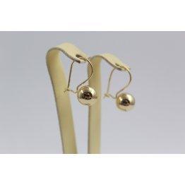 Дамски златни обеци топки жълто злато 2409
