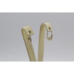 Дамски златни ретро обеци кошнички 2413