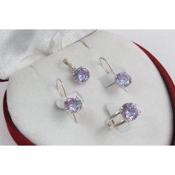 Дамски сребърен комплект Криста Виолет 2437