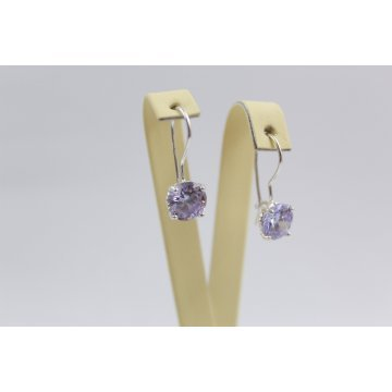 Дамски сребърни обеци Криста Виолет 2440