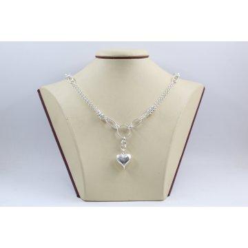 Дамско сребърно колие Сърце 2446
