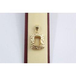 Дамски златен медальон жълто злато 2534