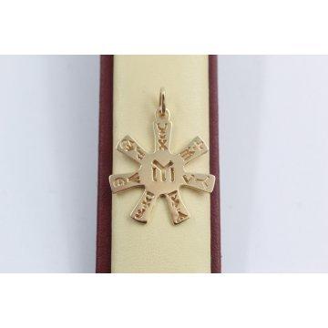 Златен медальон Розетата от Плиска жълто злато 2546