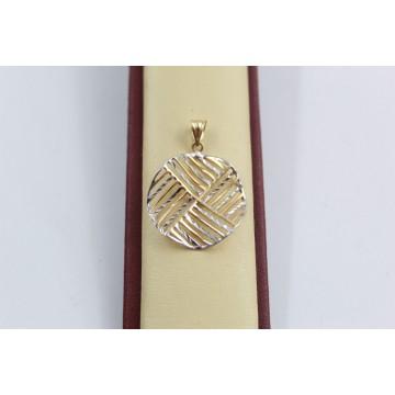 Дамски златен медальон бяло жълто злато 2550