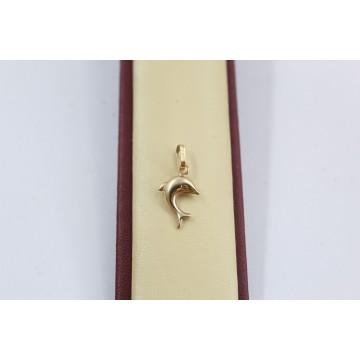 Дамски златен медальон делфин 2554